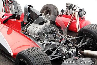 Engine of a racing race car