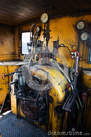 Free Engine Room Of Steam Locomotive Royalty Free Stock Photography - 31517427