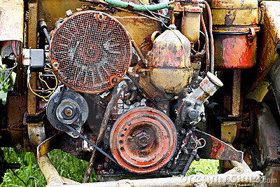 Engine of tractor
