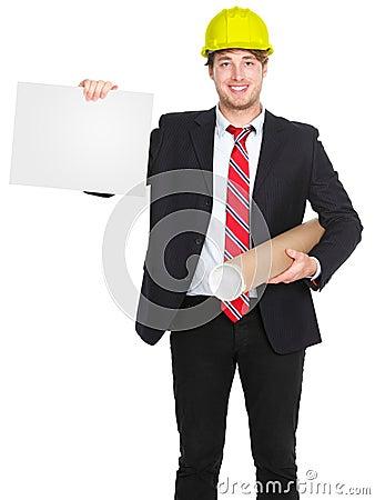 Engineer / architect man