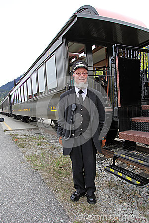 Engineer and His Train Editorial Stock Image