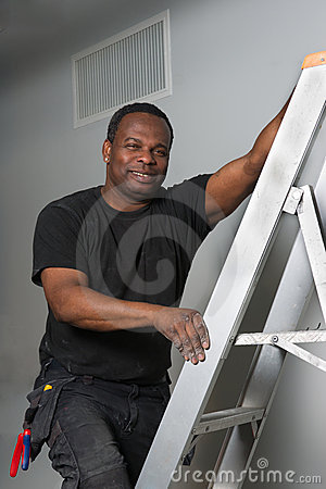 Engineer on a ladder