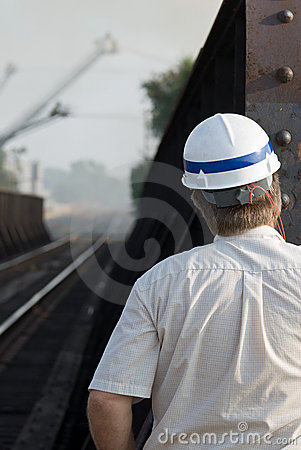 Engineer Looking Down Track