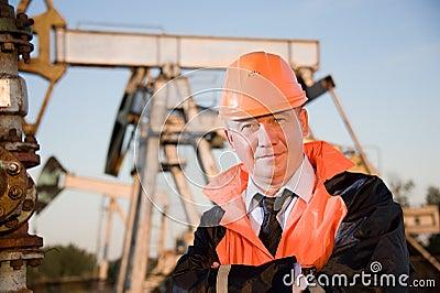 Engineer in an Oil field