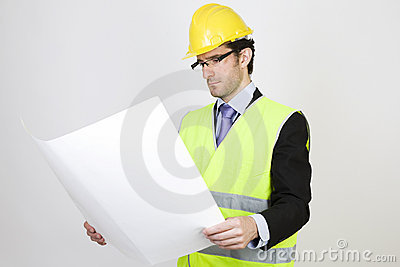 Engineer with a project