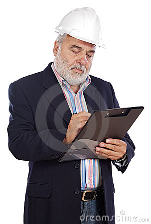 Engineer Taking Notes Royalty Free Stock Photo - Image: 3382715