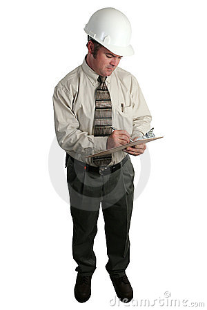 Free Engineer Taking Notes - Complete Stock Images - 196634
