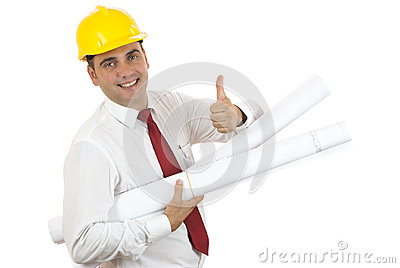 Engineer with thumb up