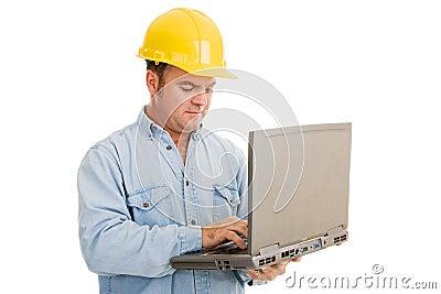 Engineer Using Laptop