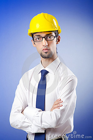 engineer wearing hard hat