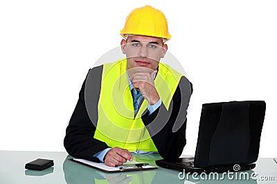 Engineer working on-site