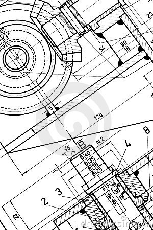 Free Engineering Blueprint Stock Photography - 6243062