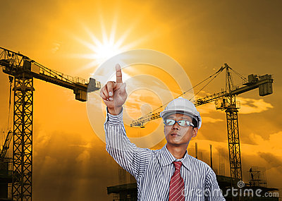 Engineering man working in construction site