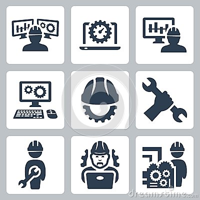 Free Engineering Vector Icons Stock Photography - 42806022