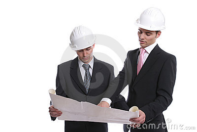 Engineers discussing new project