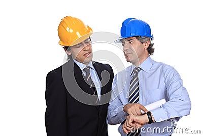 Engineers talking