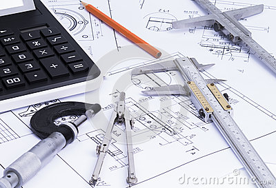 Engineerung tools on technical drawings