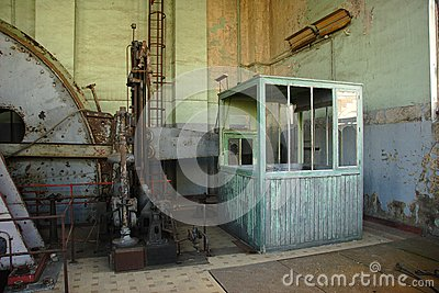 Engineroom of coalmine Waterschei