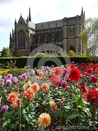 England: Arundel cathedral and gardens