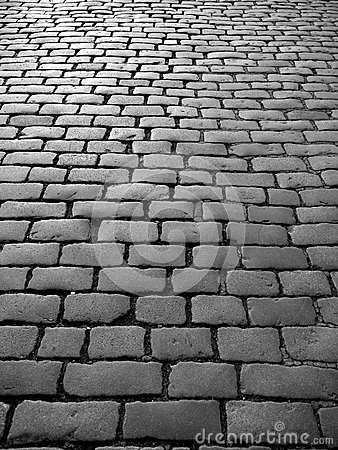 England: cobblestones on old street