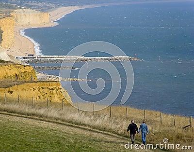 England dorset bridport jurassic coast eype mouth dorset coast p