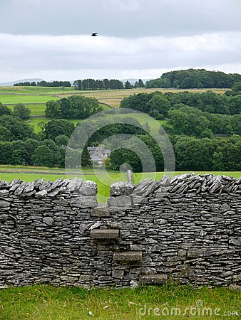 England: drystone wall with stile