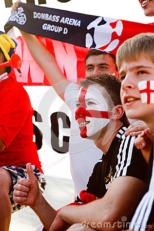 England fan Editorial Stock Image
