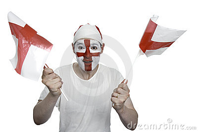 England Fan Waving Flags
