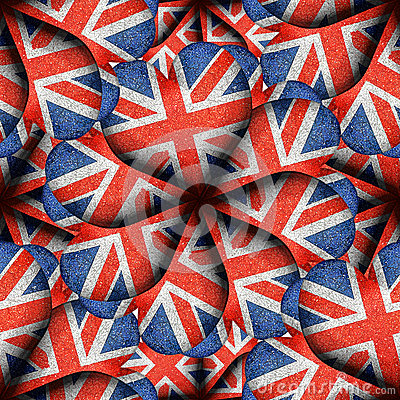 Free England Flag Heart Shaped Pattern Royalty Free Stock Photography - 51379937