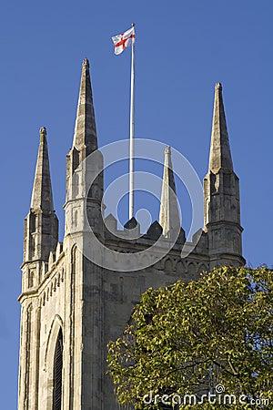 England flag over English church