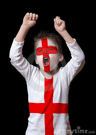 Free England Football Fan Royalty Free Stock Image - 4971316