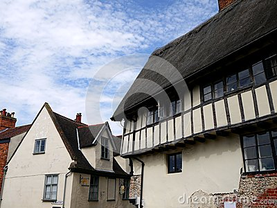 England: historic cottages in Norwich