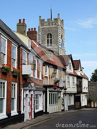 England: historic street in Norwich