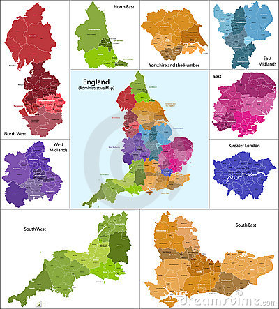 Free England Map Royalty Free Stock Image - 18703586