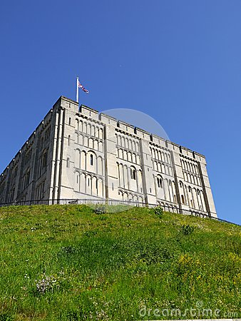 England: Norwich castle hill