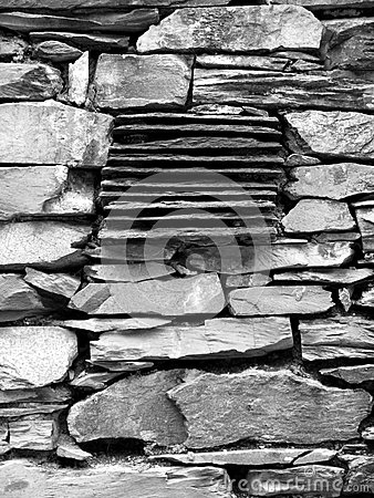 England: old stone wall detail