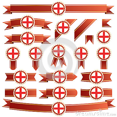 England ribbons