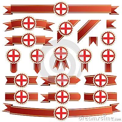 England ribbons