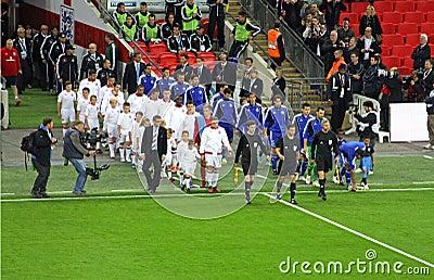 England and SanMarino entrance Editorial Photo