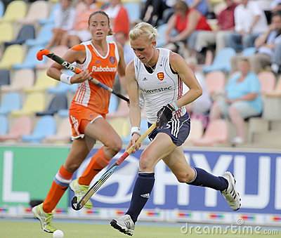 England v Holland.Hockey European Cup Germany 2011 Editorial Photo