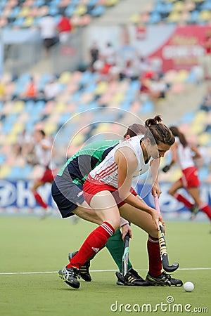 England v Ireland.Hockey European Cup Germany 2011 Editorial Photo