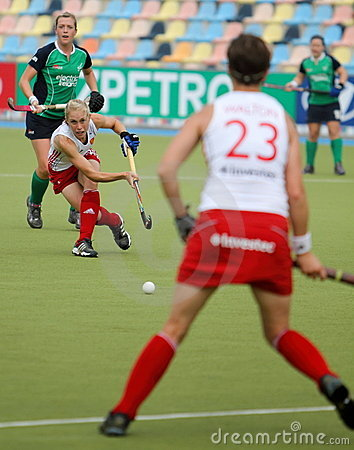 England v Ireland.Hockey European Cup Germany 2011 Editorial Stock Photo