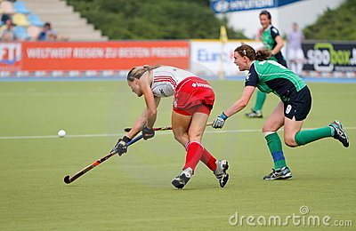England v Ireland Hockey European Cup Germany 2011 Editorial Stock Photo