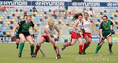 England v Ireland.Hockey European Cup Germany 2011 Editorial Image