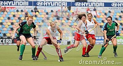 England v Ireland.Hockey European Cup Germany 2011 Editorial Image