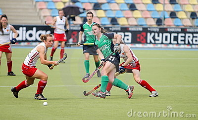 England V Ireland.Hockey European Cup Germany 2011 Editorial Stock Image