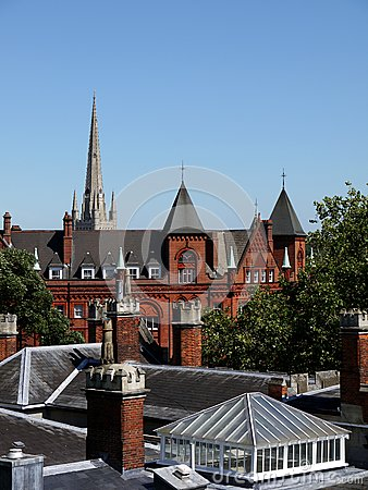 England: Victorian roofs in Norwich