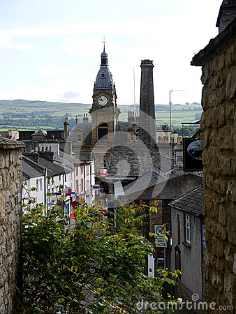 England: view of Kendal town hall
