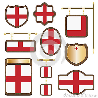 England wooden plaques