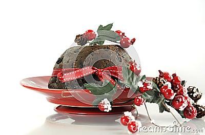englischer art weihnachts plum pudding nachtisch stockfoto. Black Bedroom Furniture Sets. Home Design Ideas